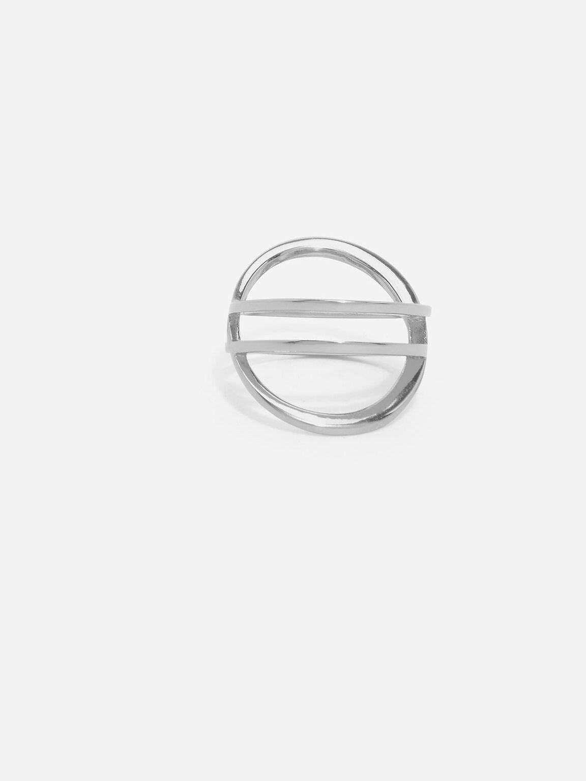 Criss Cross Ring, Silver, hi-res