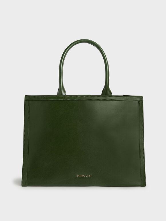 Extra Large Tote Bag, Sage Green, hi-res
