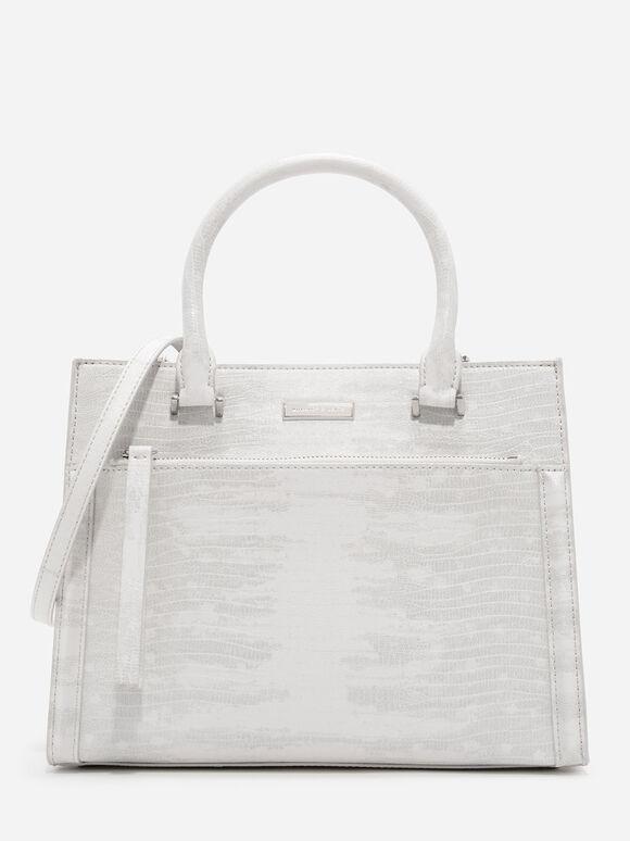Front Zip Structured Bag, Multi, hi-res