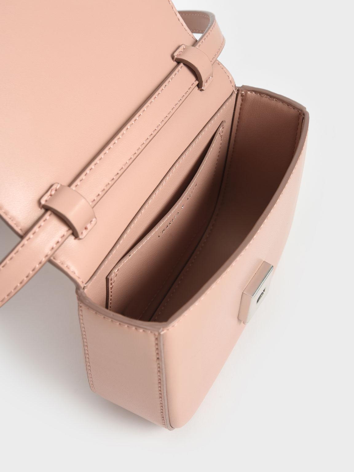 Knotted Wristlet Bag, Blush, hi-res