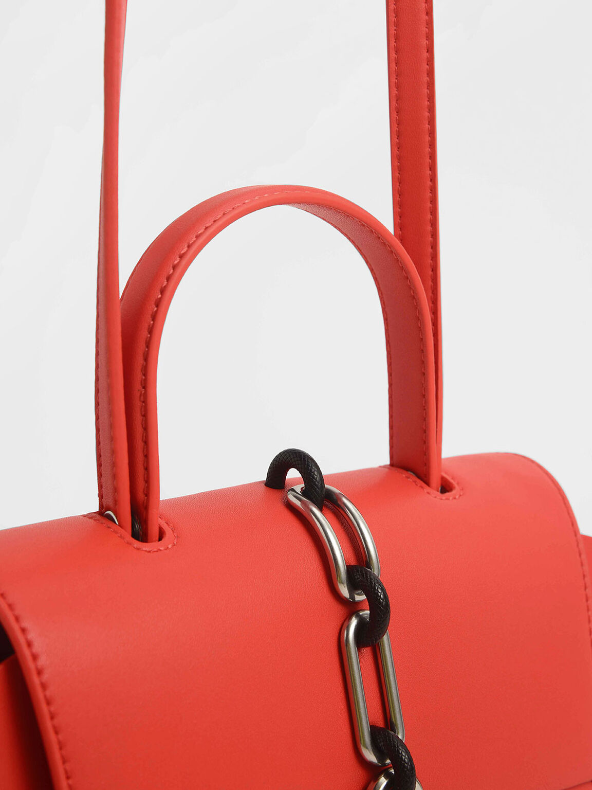 Chain-Link Trapeze Bag, Crimson, hi-res
