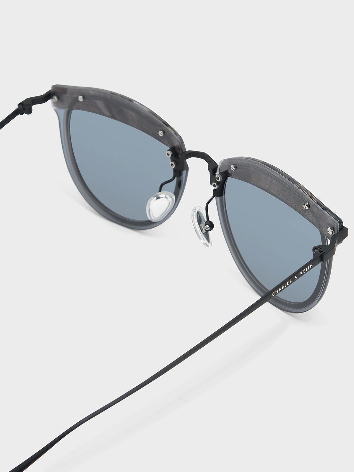 金屬細框墨鏡, 海軍藍, hi-res