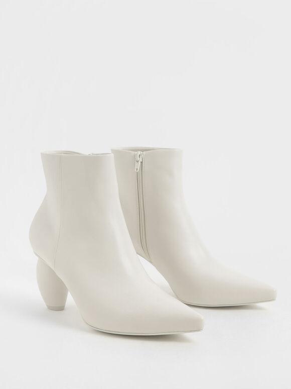 幾何跟尖頭短靴, 石灰白, hi-res