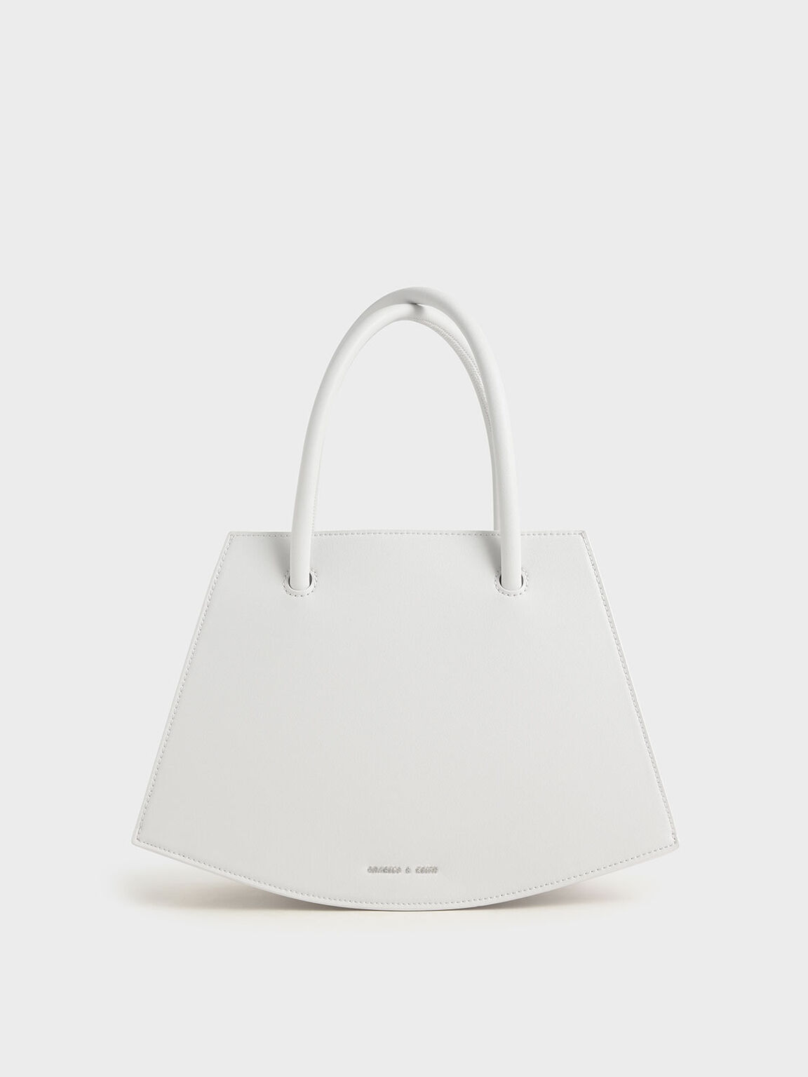 White Curved Tote Bag Charles Keith Usd