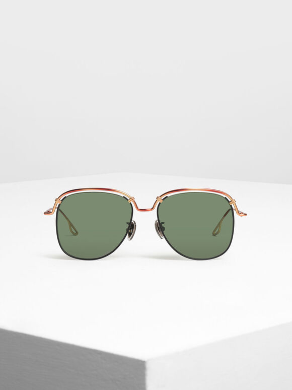 Half Wire Frame Aviators, T. Shell, hi-res