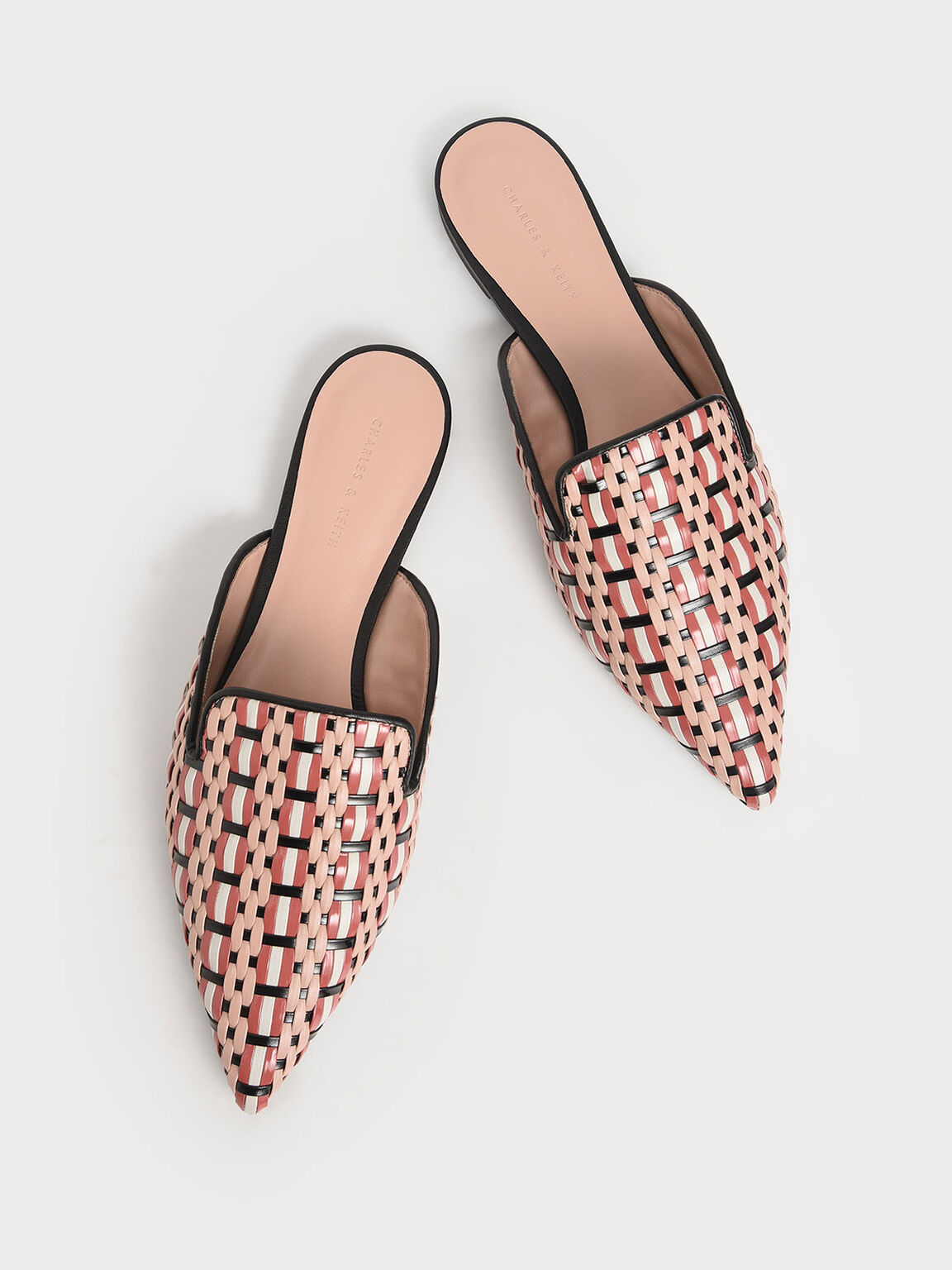 編織平底穆勒鞋, 混色, hi-res