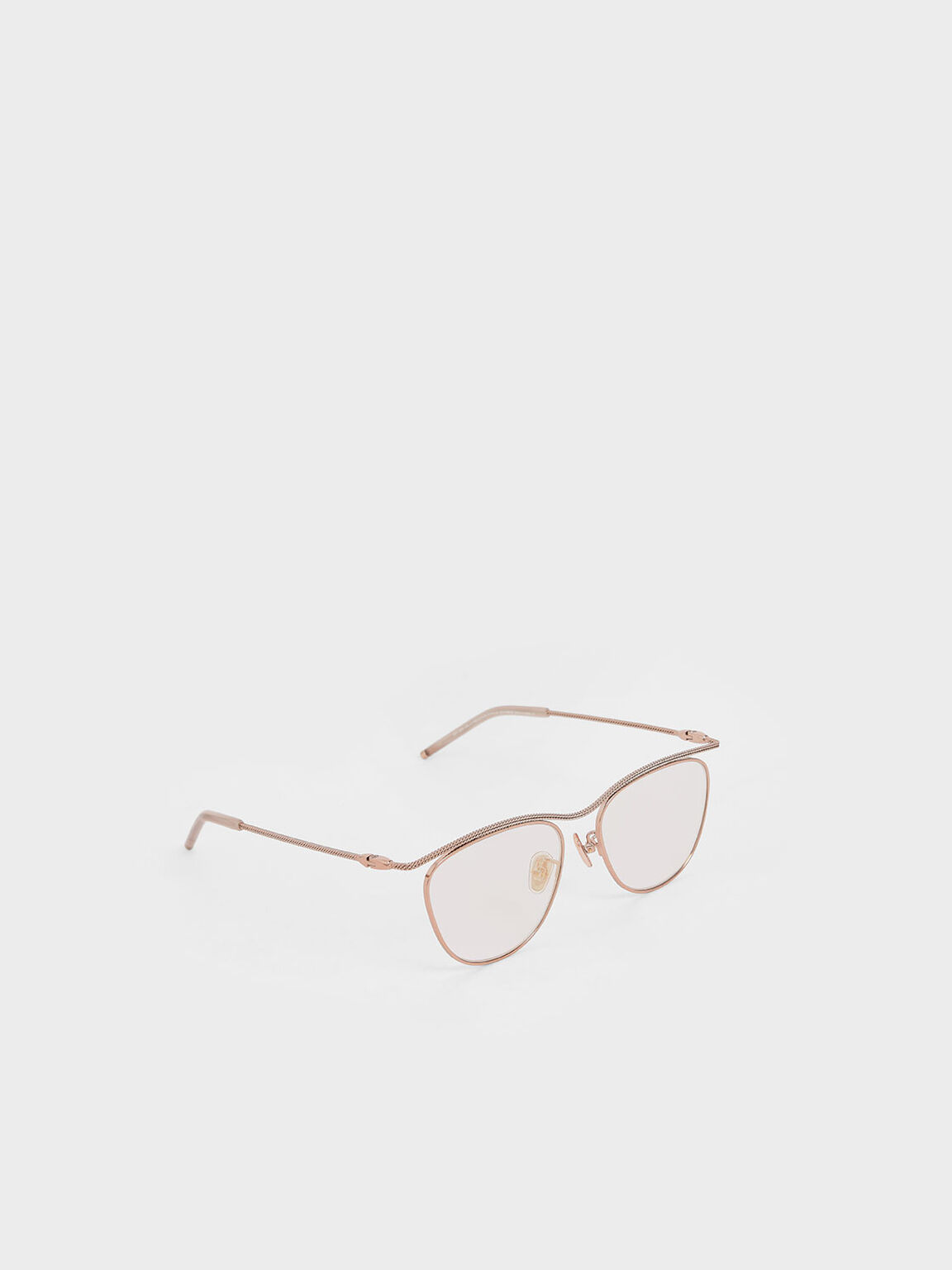 Wireframe Sunglasses, Rose Gold, hi-res