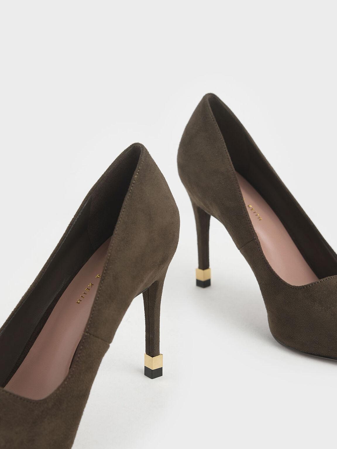 尖頭高跟鞋, 橄欖色, hi-res
