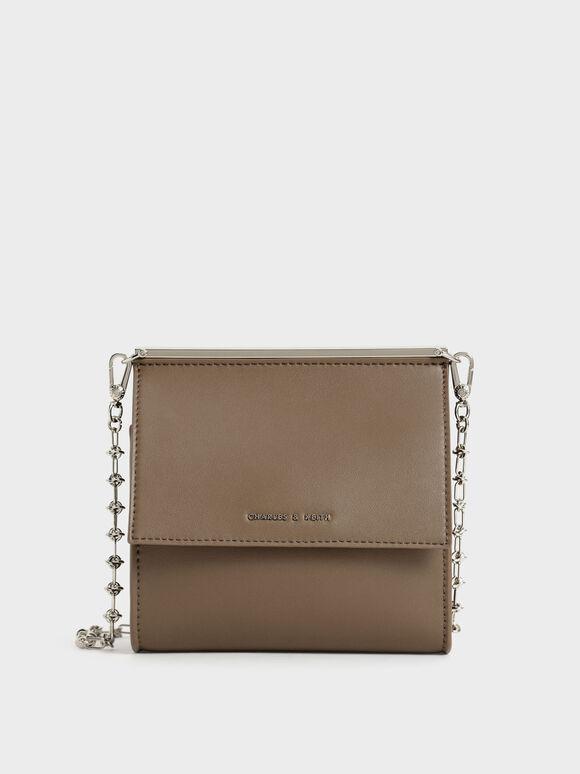 Front Flap Boxy Bag, Olive, hi-res