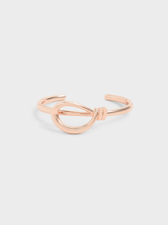 Knotted Cuff Bracelet, Rose Gold, hi-res