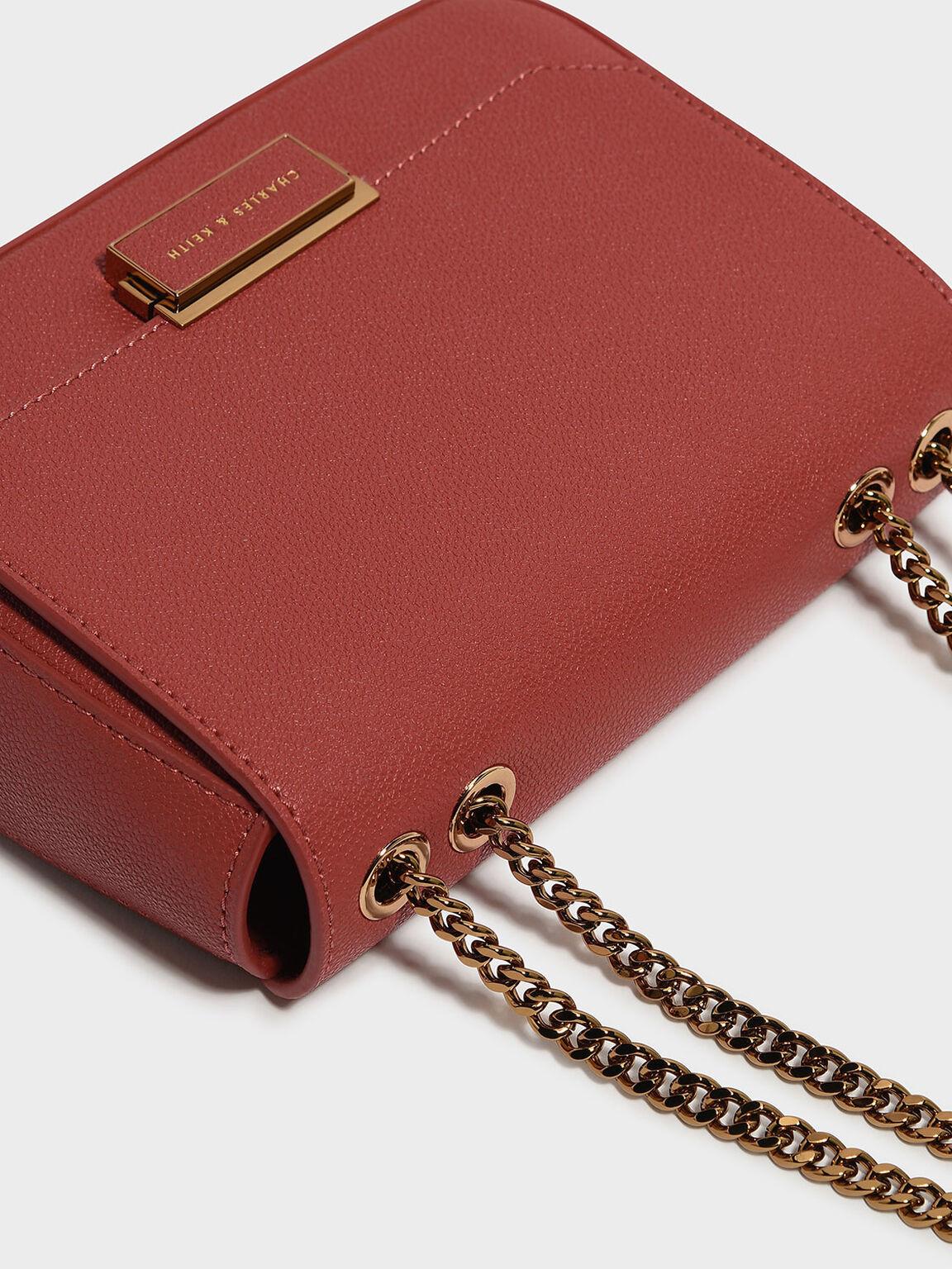 經典斜背包, 磚紅色, hi-res