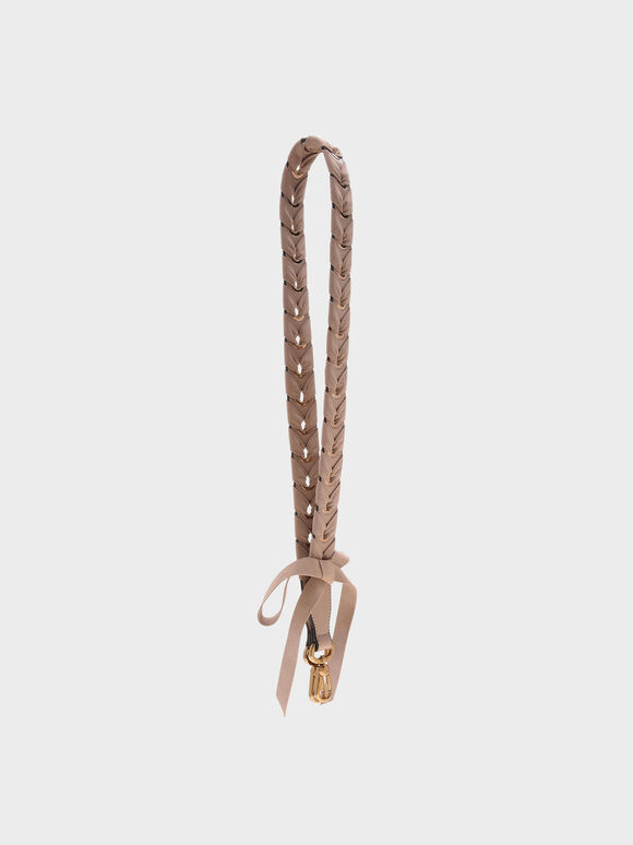 Braided Bag Strap, Beige, hi-res