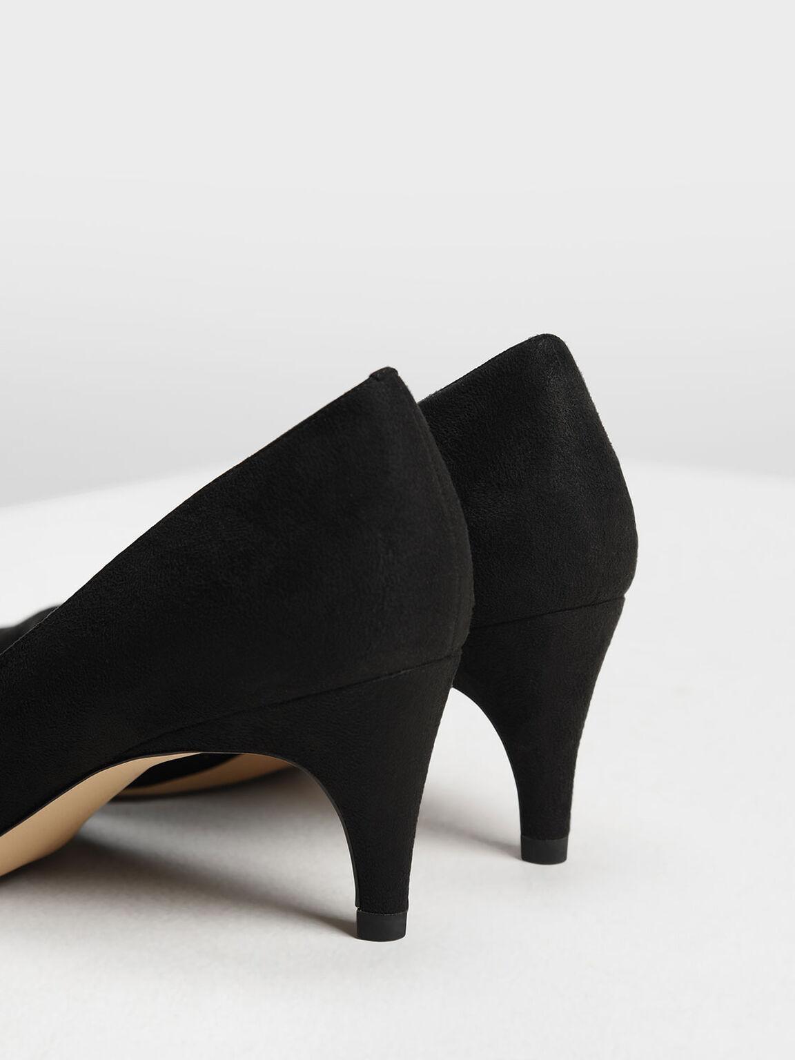 Classic Kitten Heel Pumps, Black, hi-res