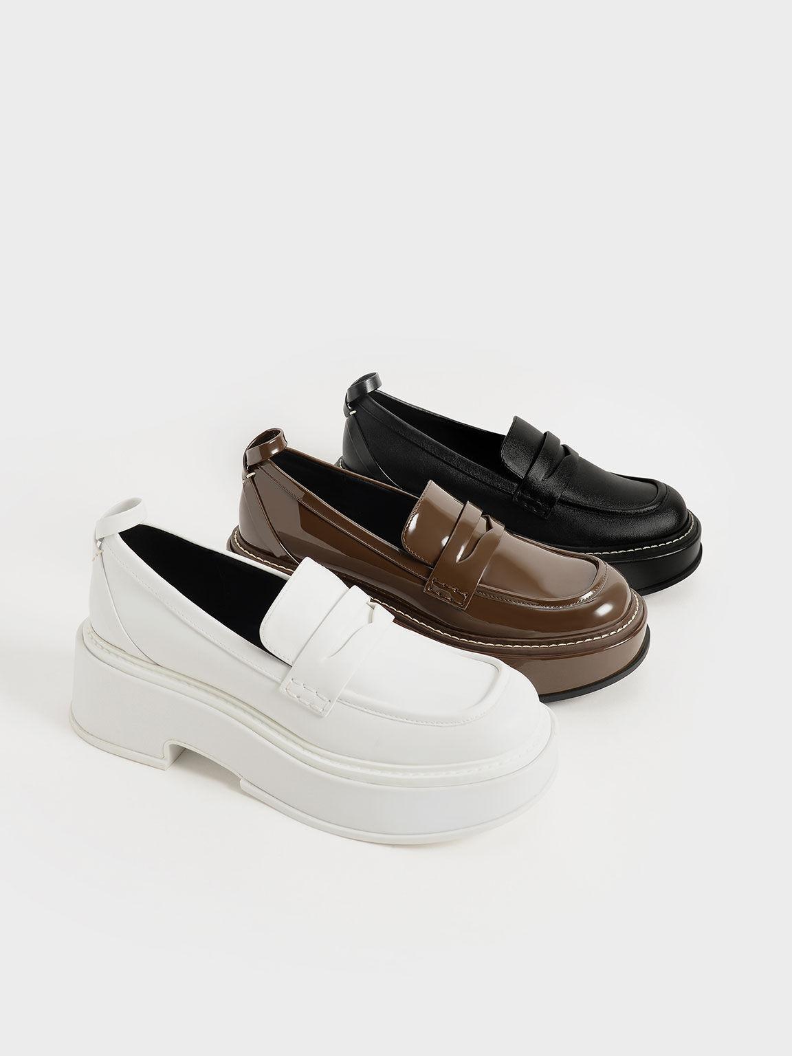 Frankie 厚底樂福鞋, 黑色, hi-res