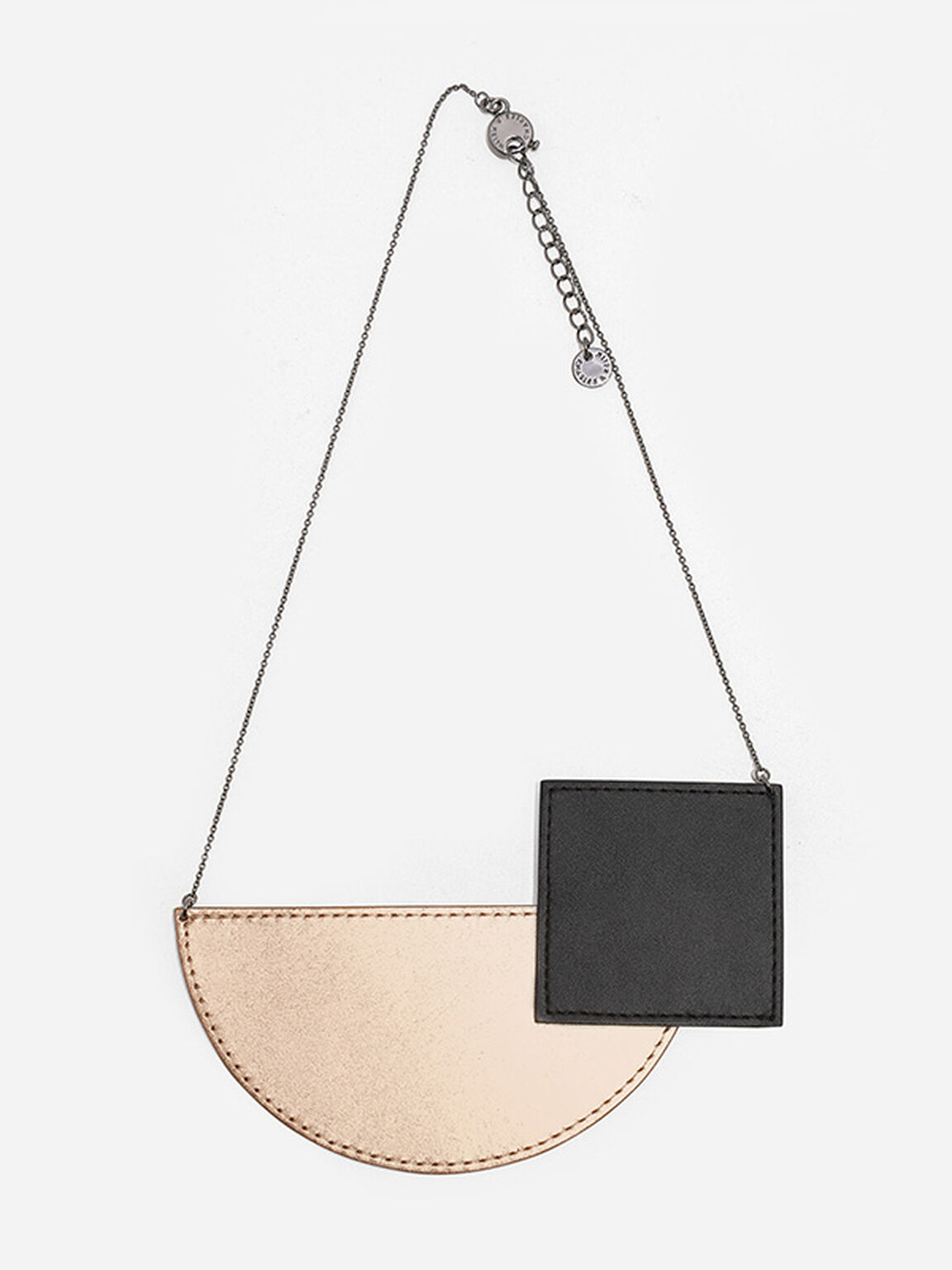 Geometric Shaped Necklace, Rose Gold, hi-res