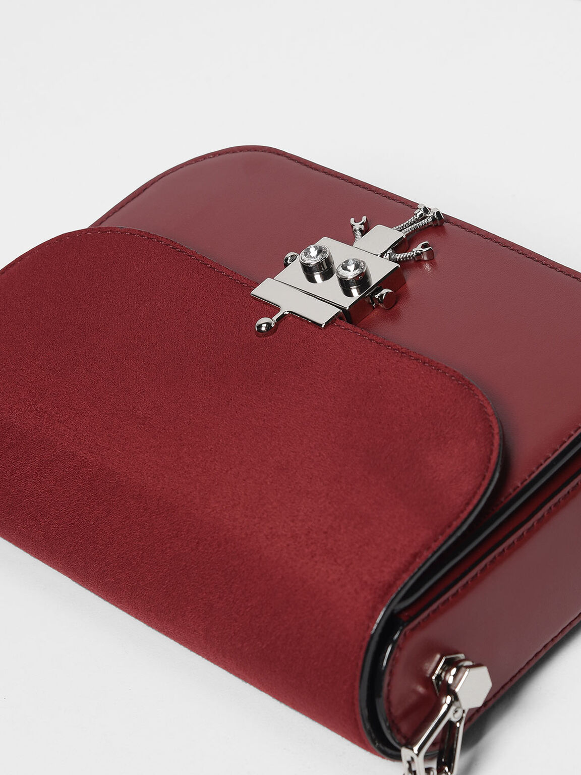 Robot Detail Push-Lock Bag, Maroon, hi-res