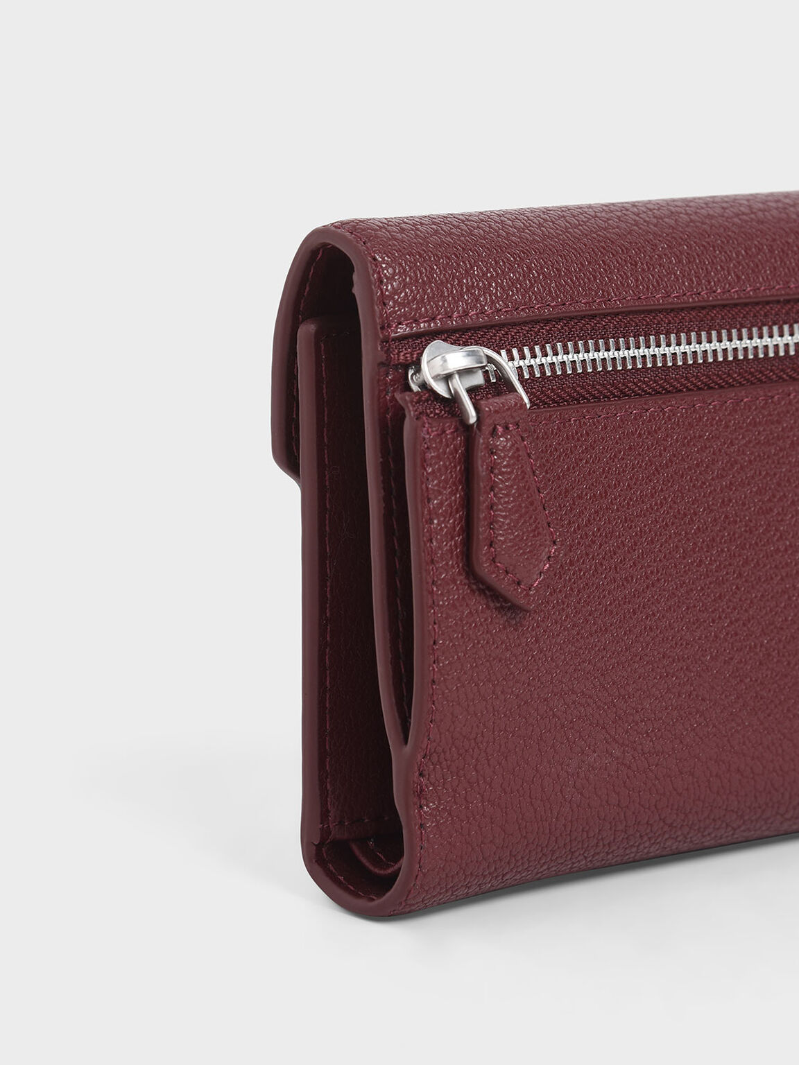 Mini Short Envelope Wallet, Burgundy, hi-res
