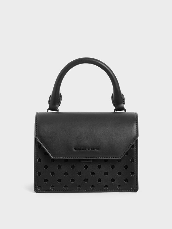 Small Top Handle Bag, Black, hi-res