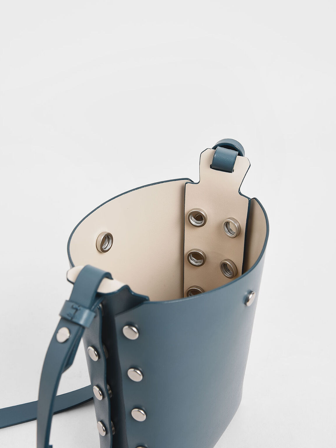 Mini Reversible Studded Crossbody Bag, Blue, hi-res