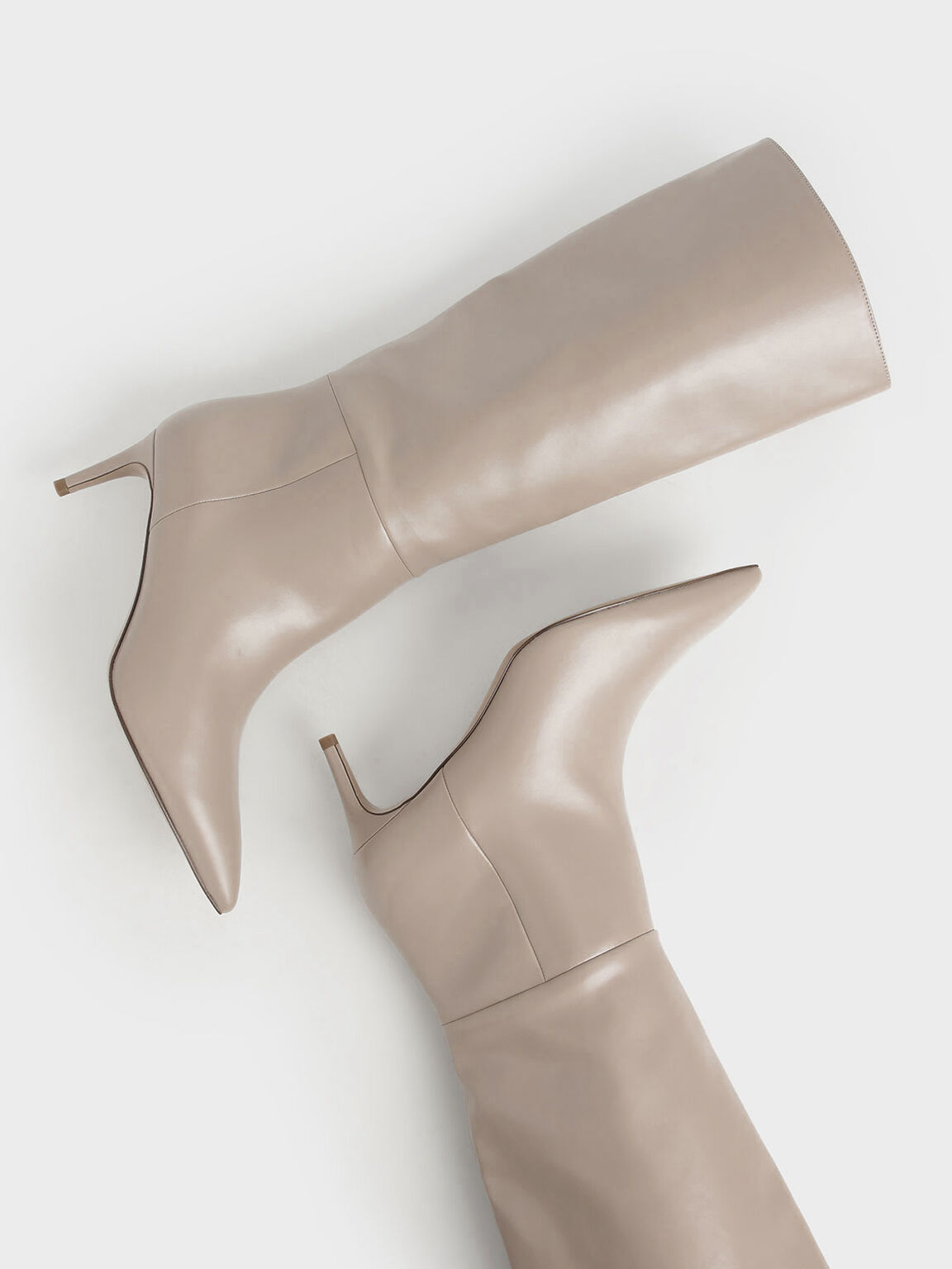 Knee High Boots, Mauve, hi-res