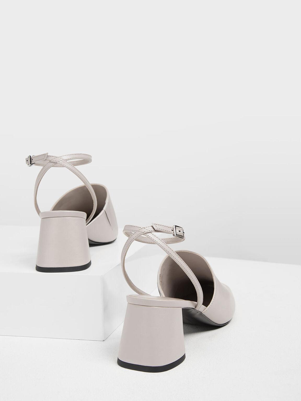 Closed Toe Block Heel Sandals, Nude, hi-res