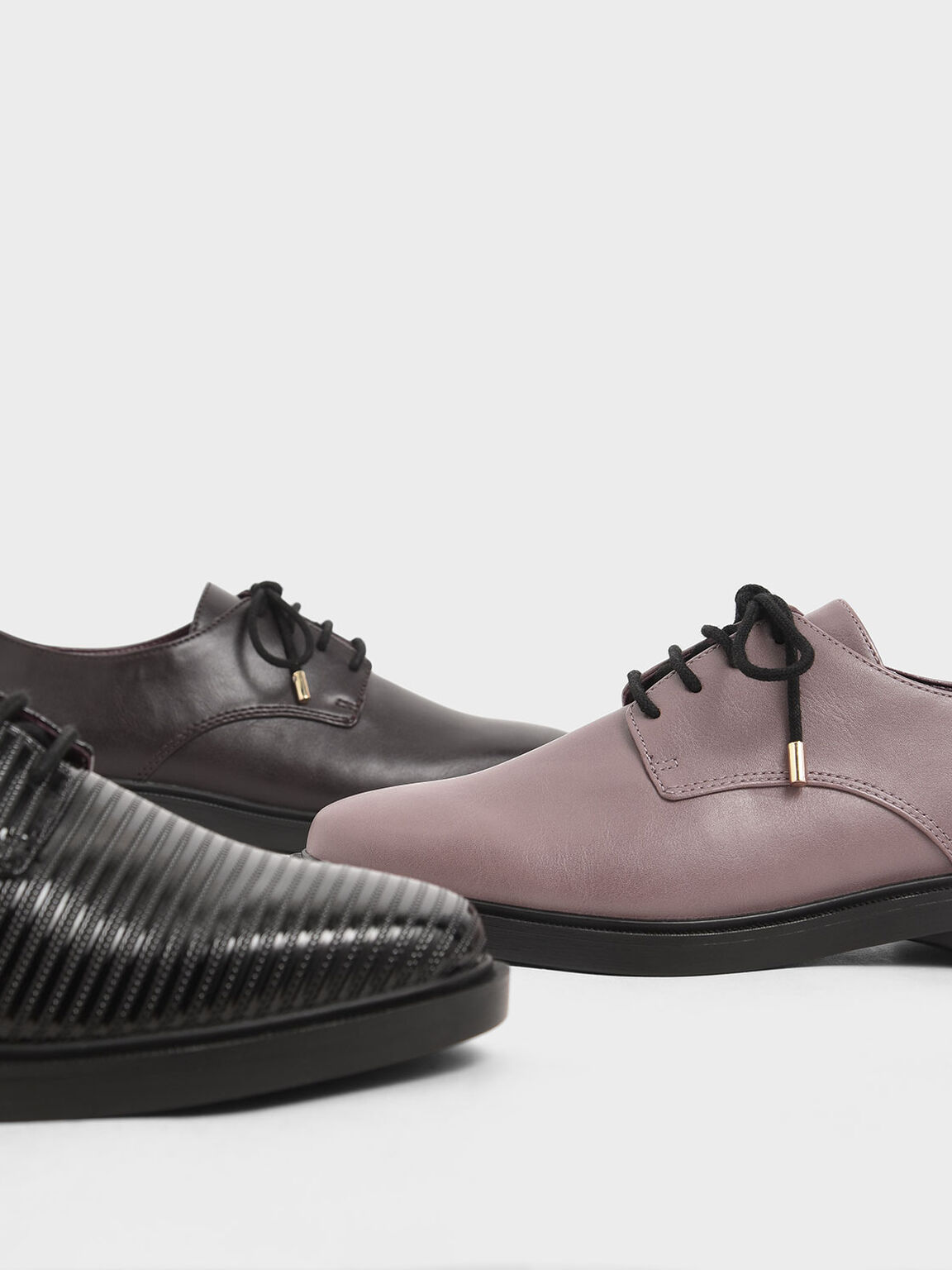 Derby Shoes, Mauve, hi-res