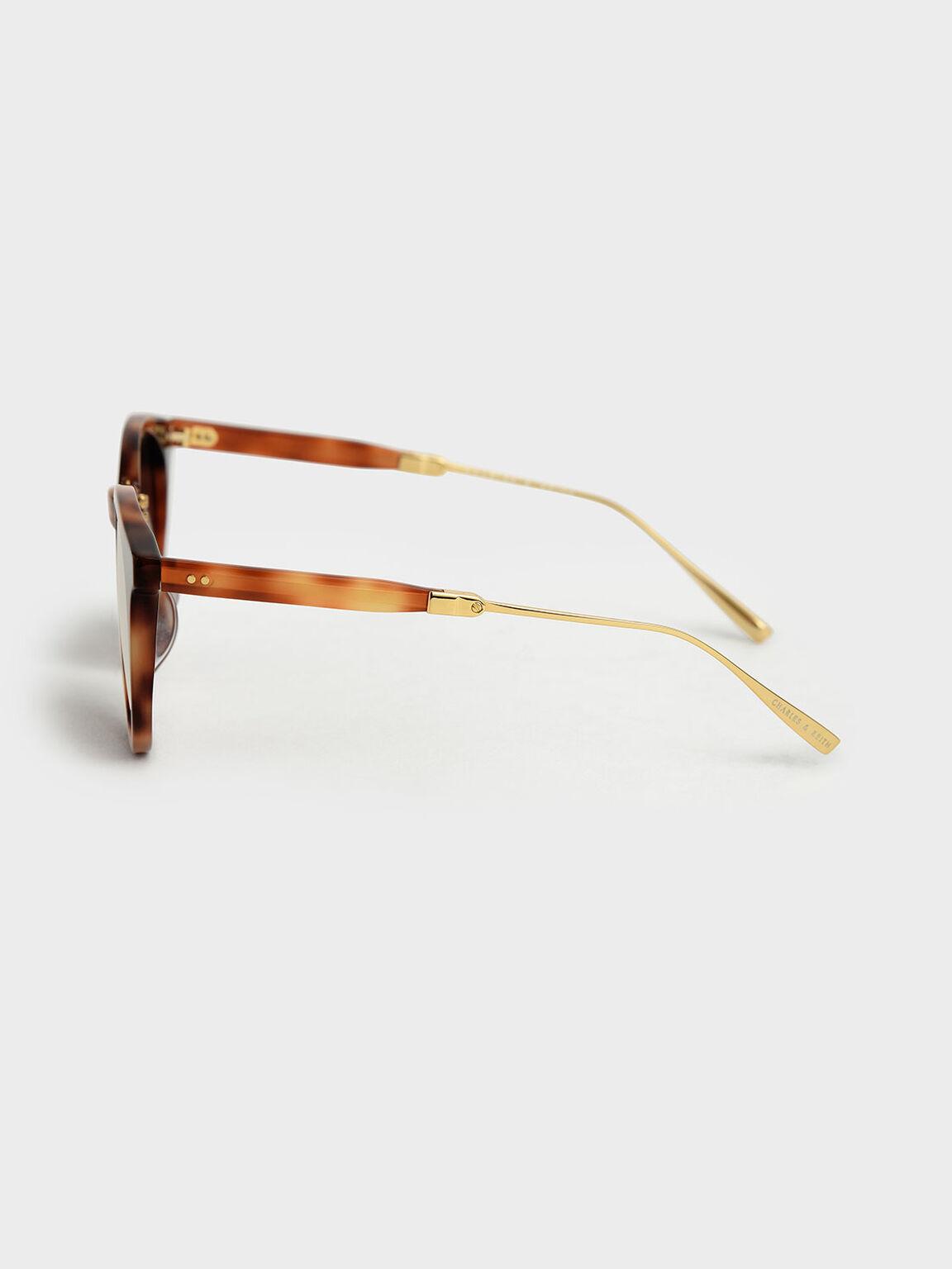 Round Acetate Tortoiseshell Sunglasses, T. Shell, hi-res