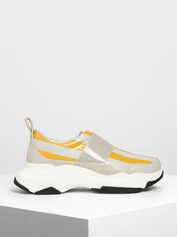 Chunky Slip-On Sneakers, Multi, hi-res