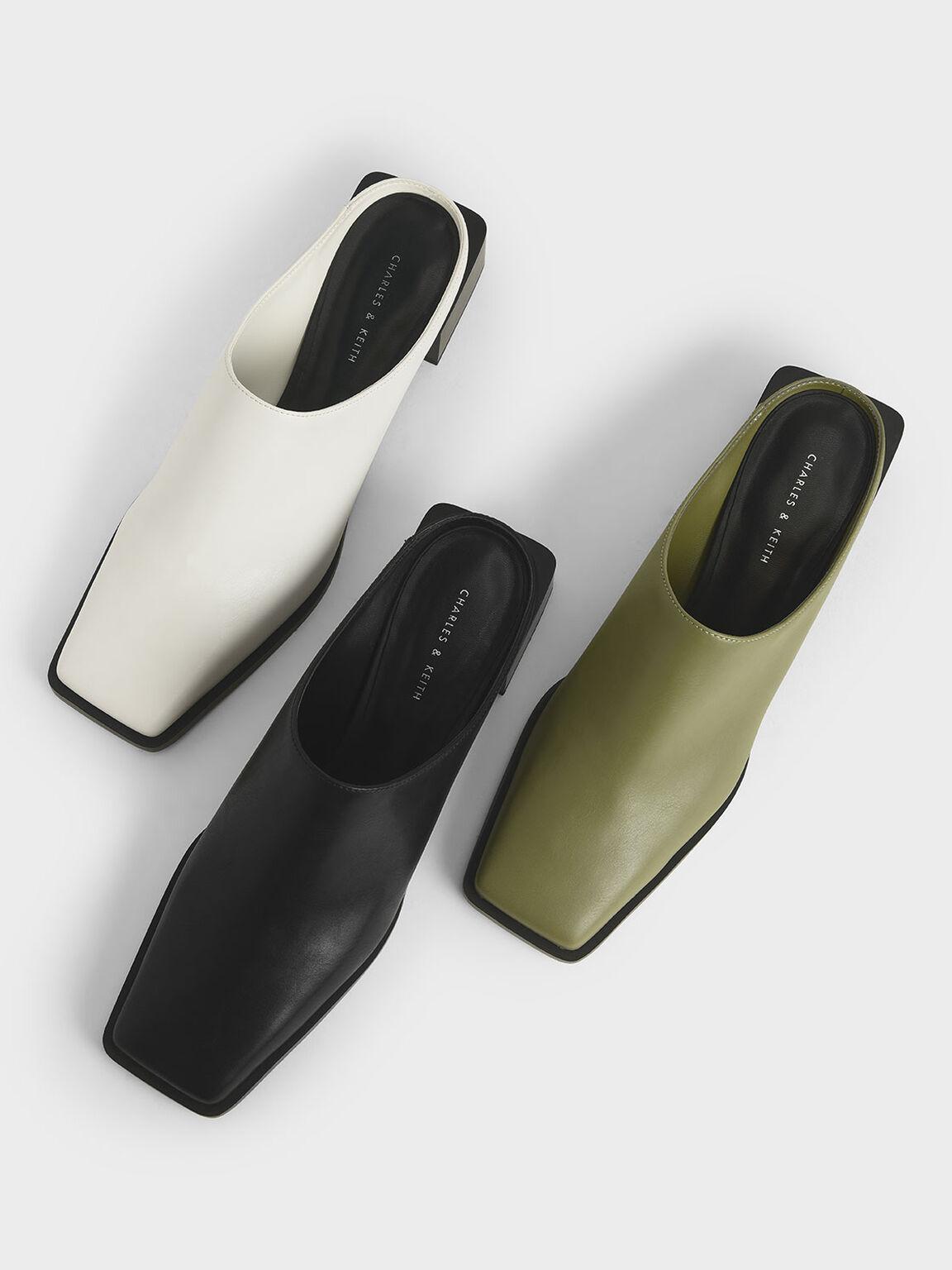 方頭穆勒鞋, 白色, hi-res