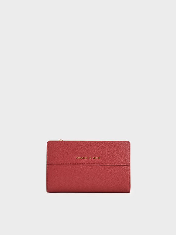 Snap-Button Mini Wallet, Rose, hi-res