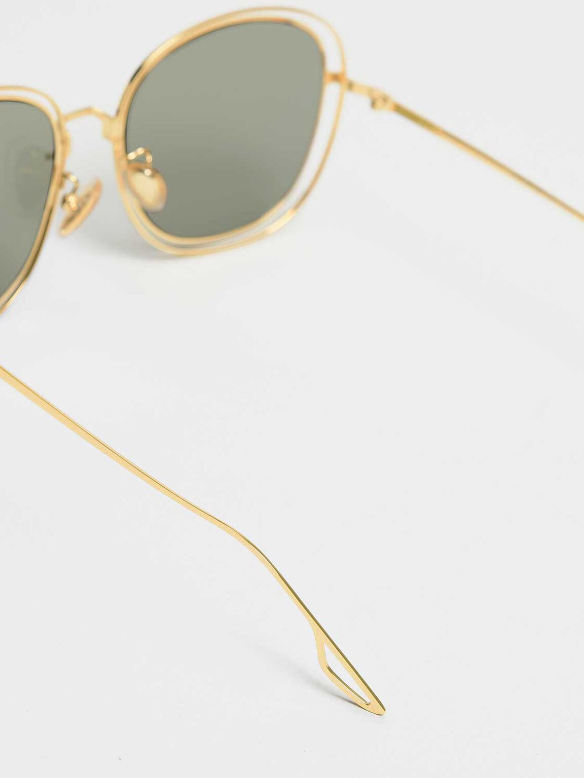 Double Wire Frame Shades, Gold, hi-res