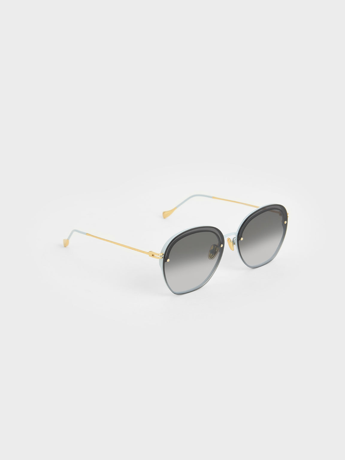 Wire Frame Butterfly Sunglasses, Blue, hi-res