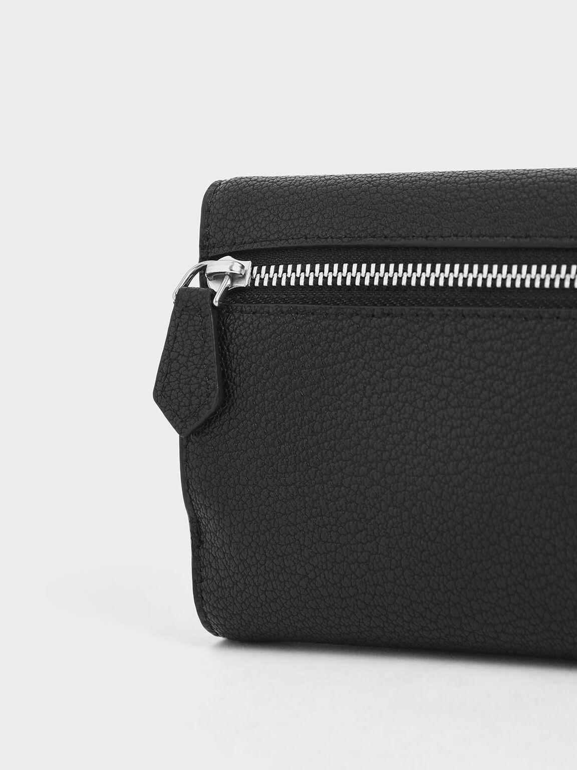 Mini Short Envelope Wallet, Black, hi-res
