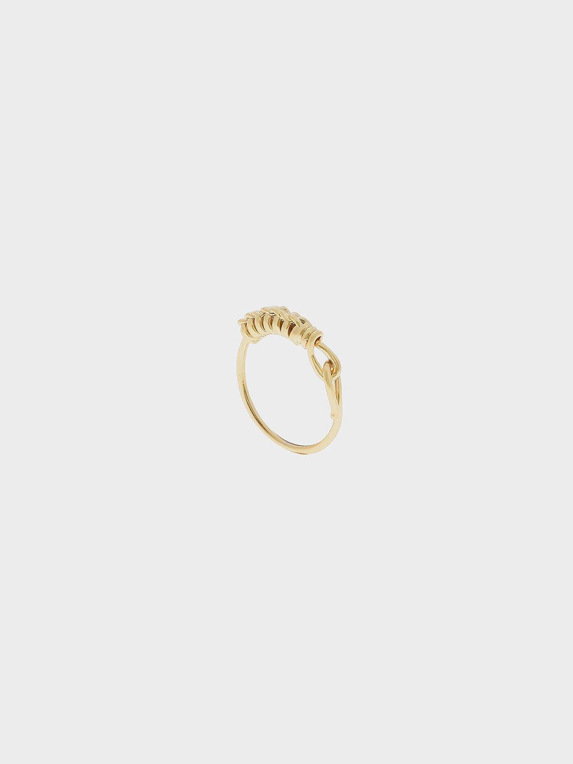 Twist Ring, Brush Gold, hi-res