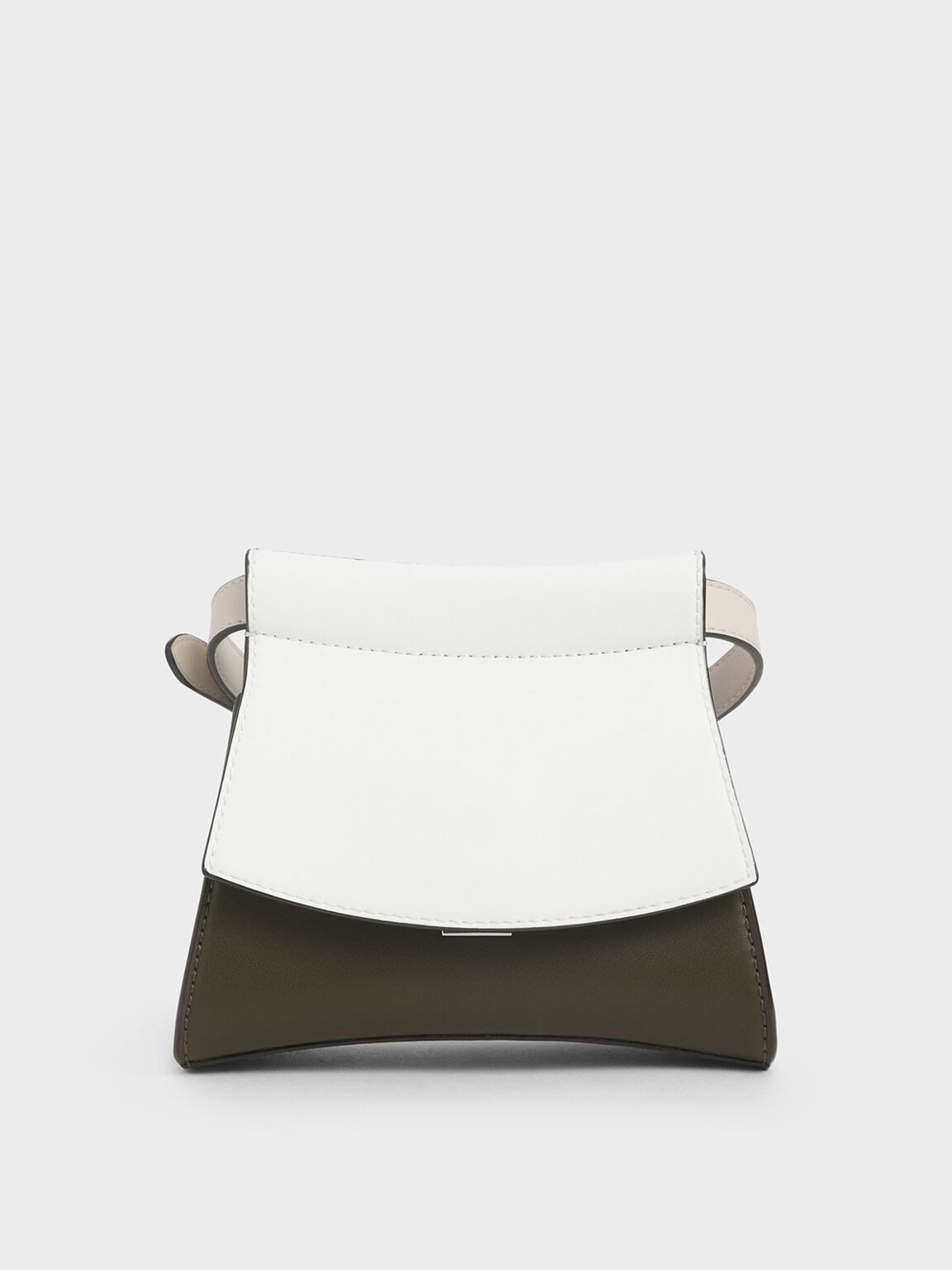 Two-Tone Belt Bag, White, hi-res