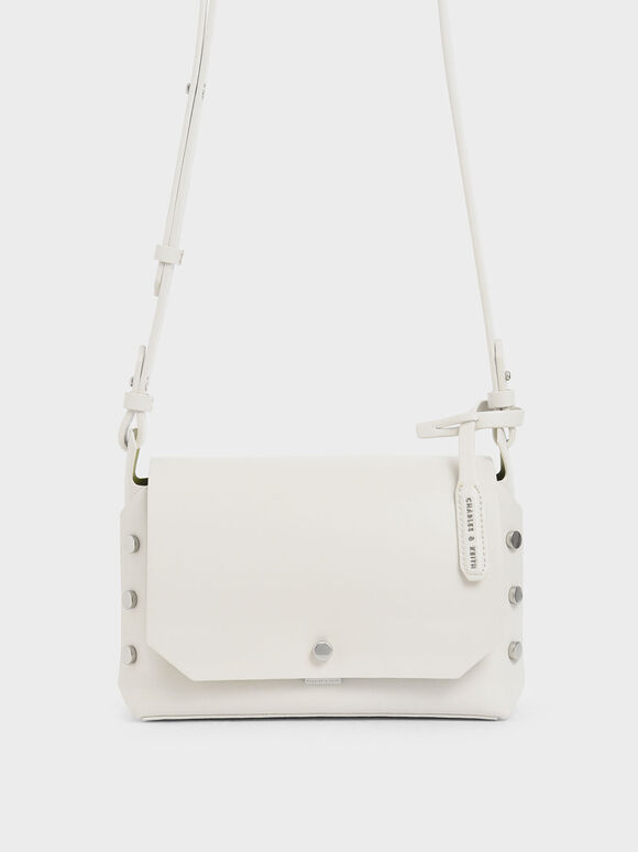 Reversible Front Flap Crossbody Bag, Cream, hi-res