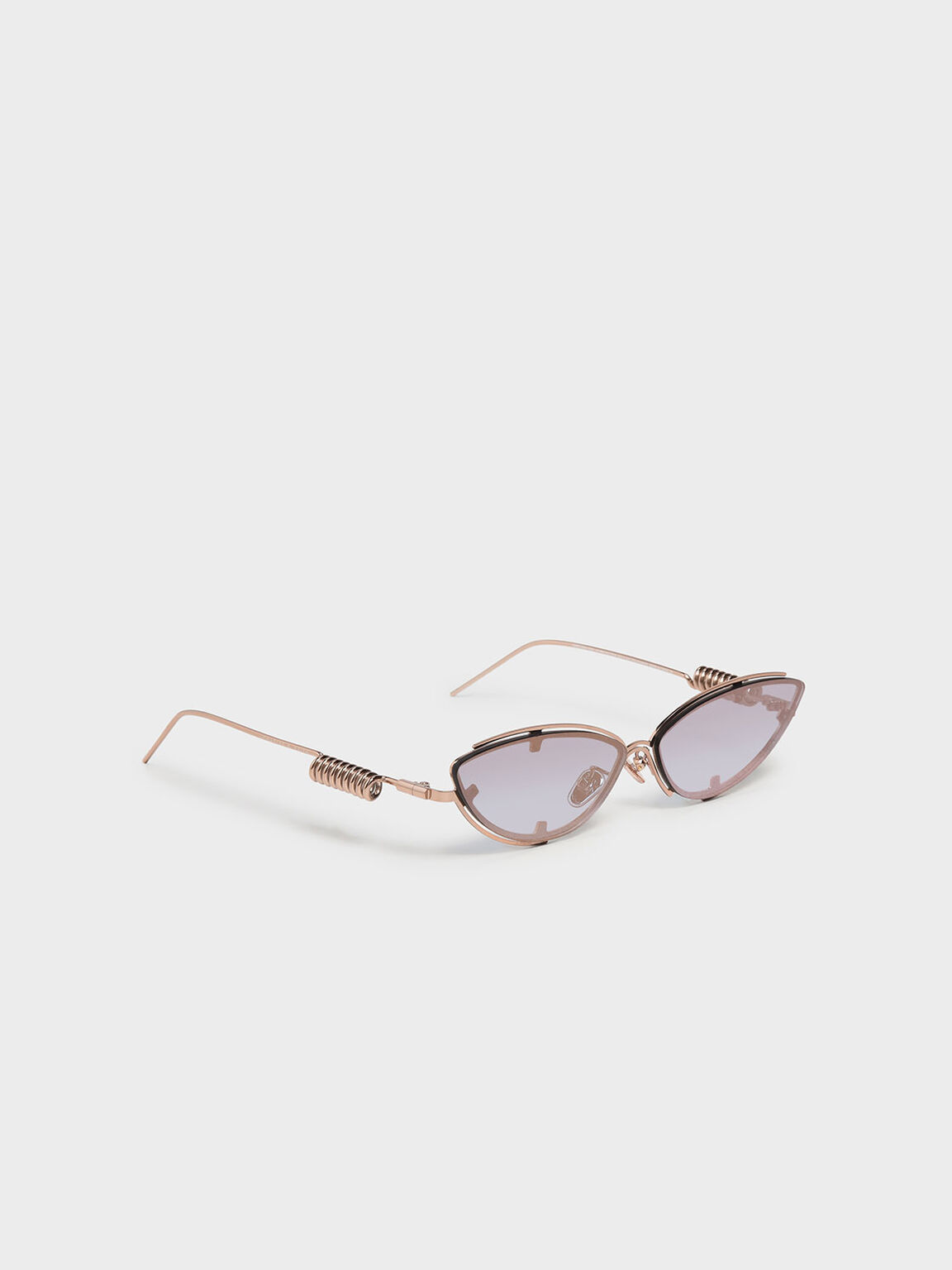 Double Frame Cat-Eye Sunglasses, Rose Gold, hi-res