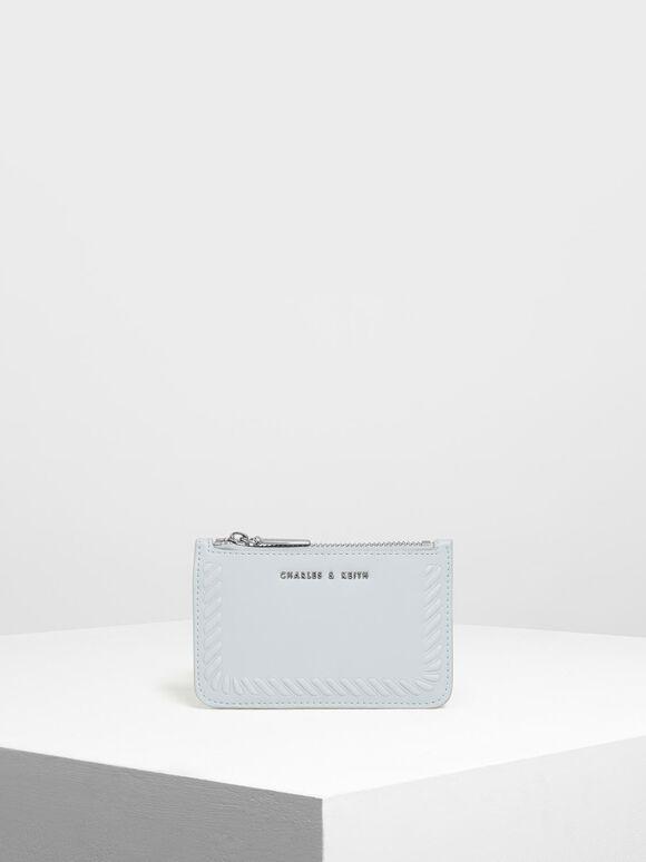엠보싱 림 카드 홀더, Light Blue, hi-res