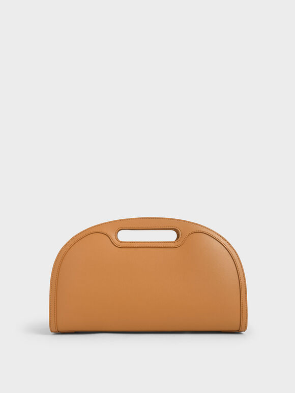 Elongated Tote Bag, Cognac, hi-res