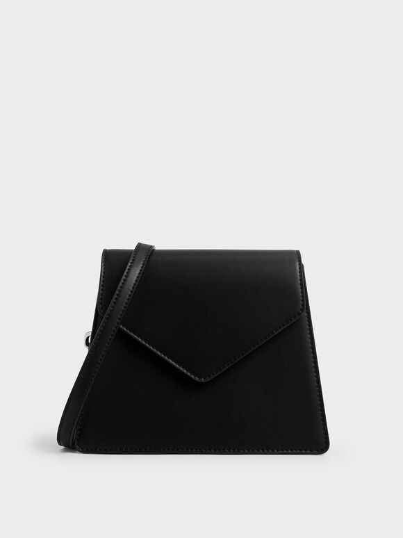 Angular Crossbody Bag, Black, hi-res