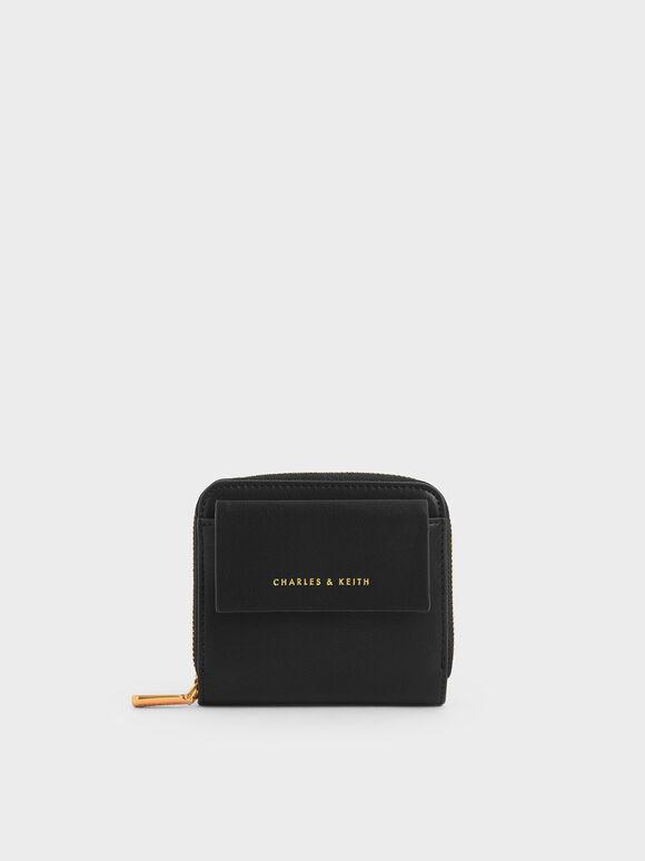 Mini Square Wallet, Black, hi-res