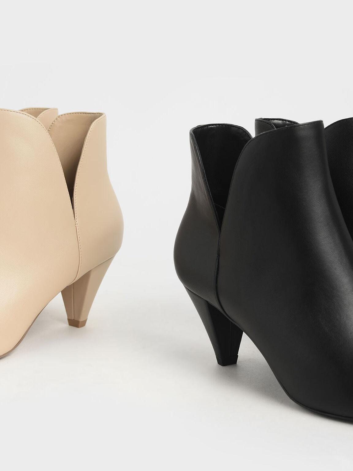 側V剪裁短靴, 米黃色, hi-res