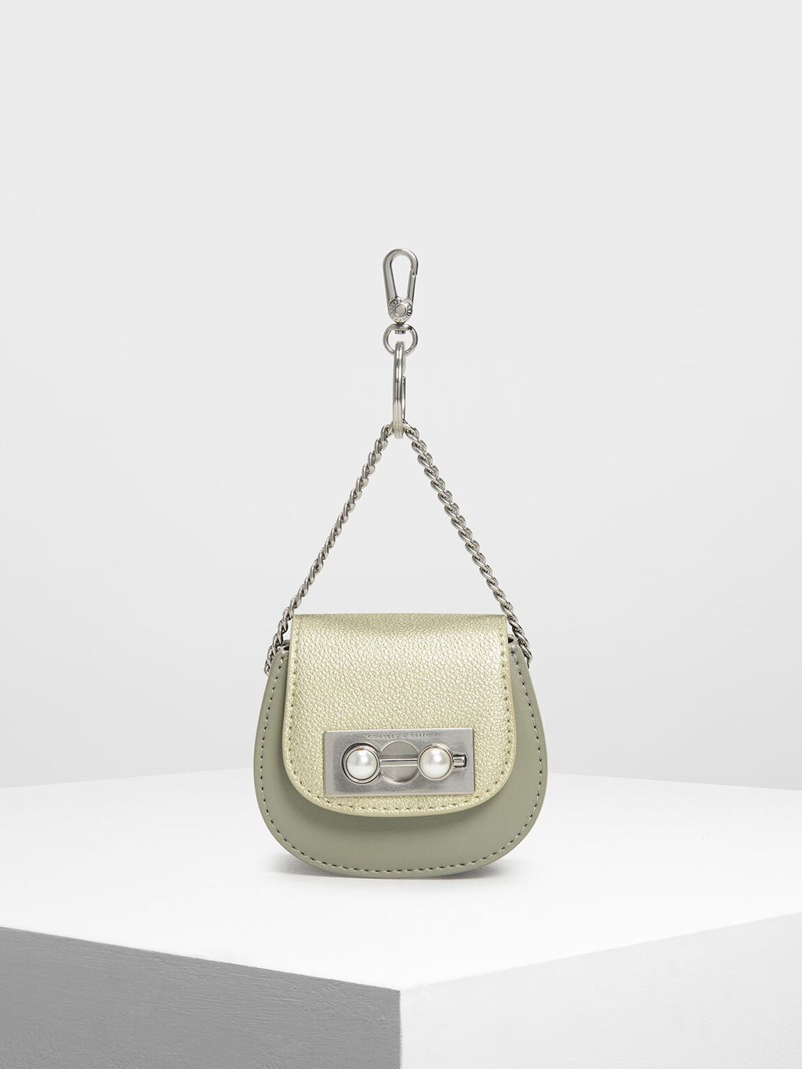 Mini Horseshoe Key Pouch, Sage Green, hi-res