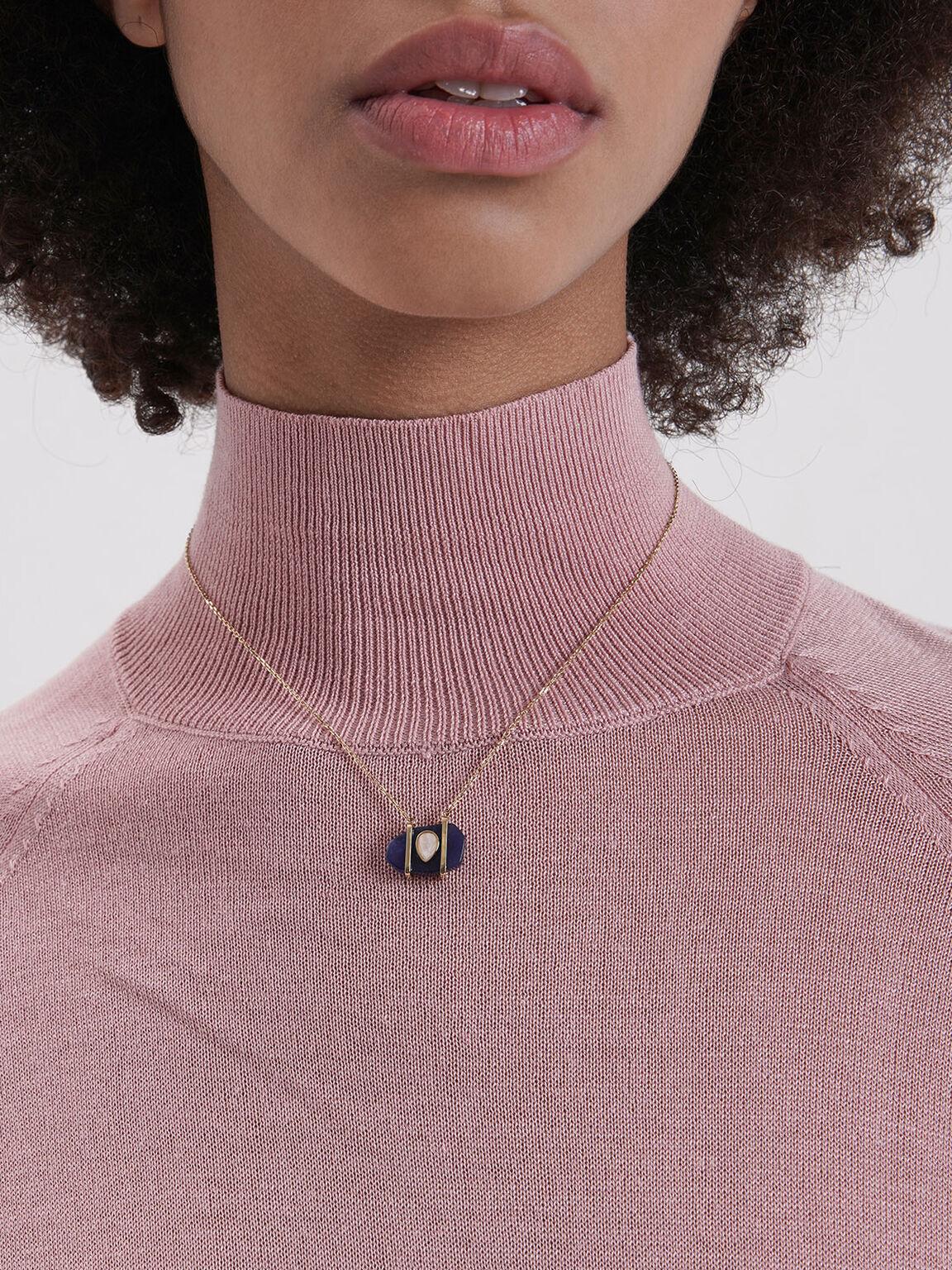 Sodalite & Moonstone Teardrop Choker Necklace, Dark Blue, hi-res
