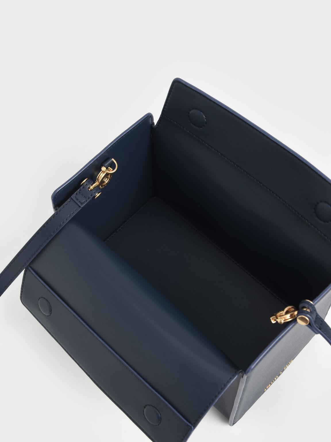 Slouchy Top Handle Bag, Navy, hi-res