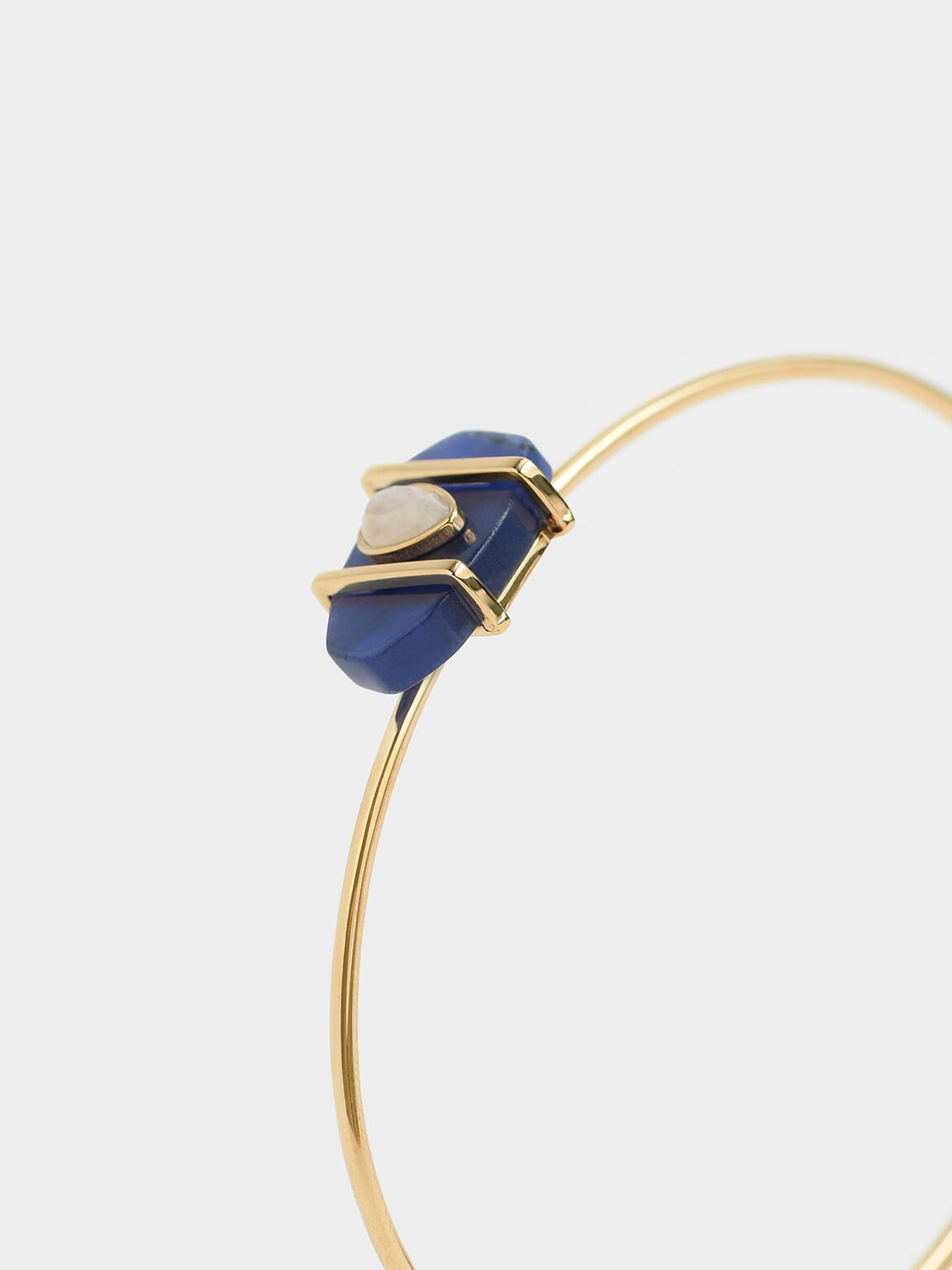 Sodalite & Moonstone Teardrop Cuff Bracelet, Dark Blue, hi-res