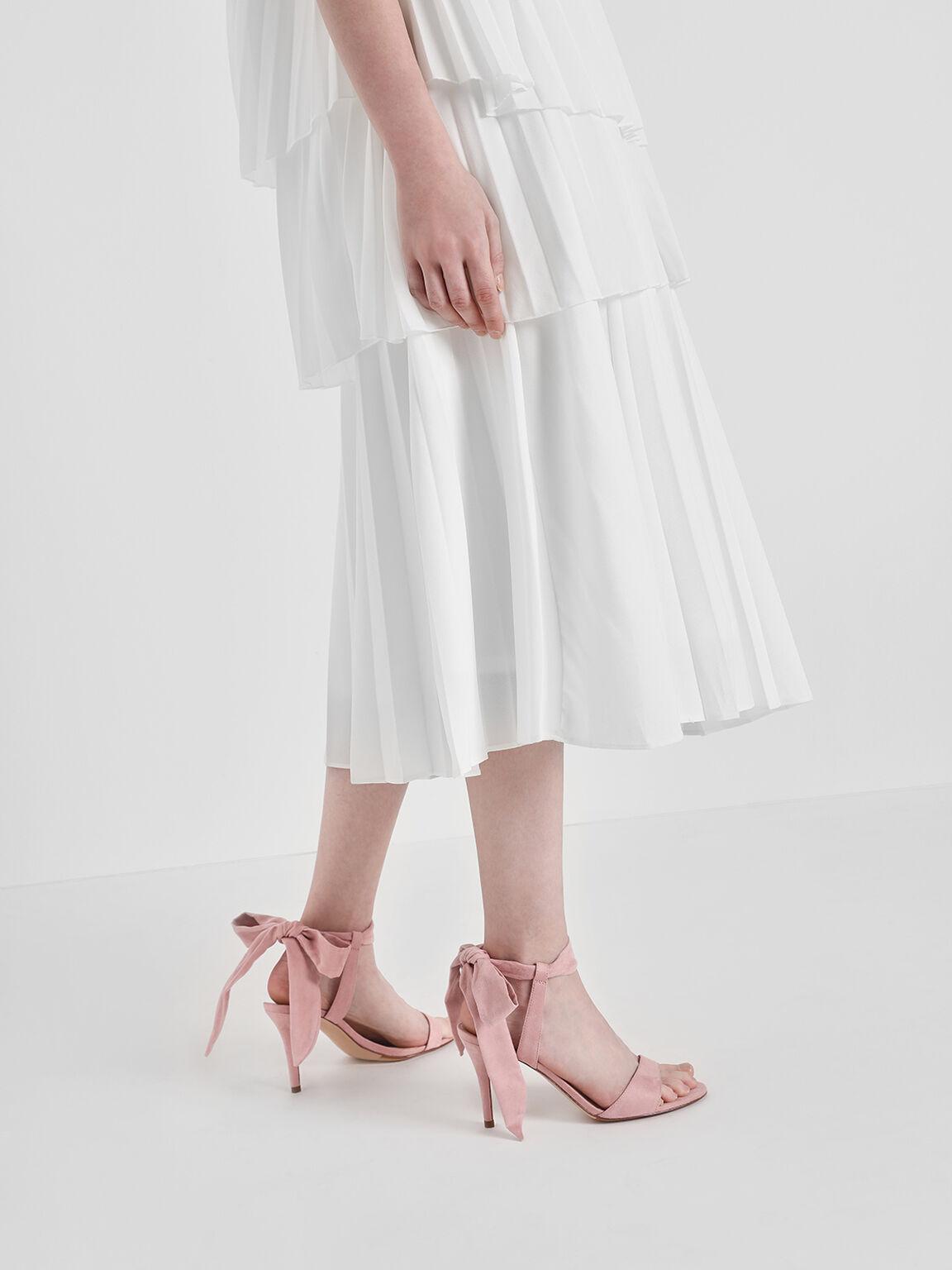 Tie Back Bow Heels, Blush, hi-res