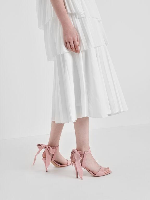 Tie Back Bow Heels, Blush