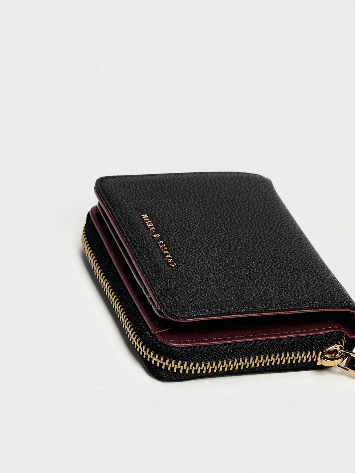 Classic Zip Mini Wallet, Black, hi-res