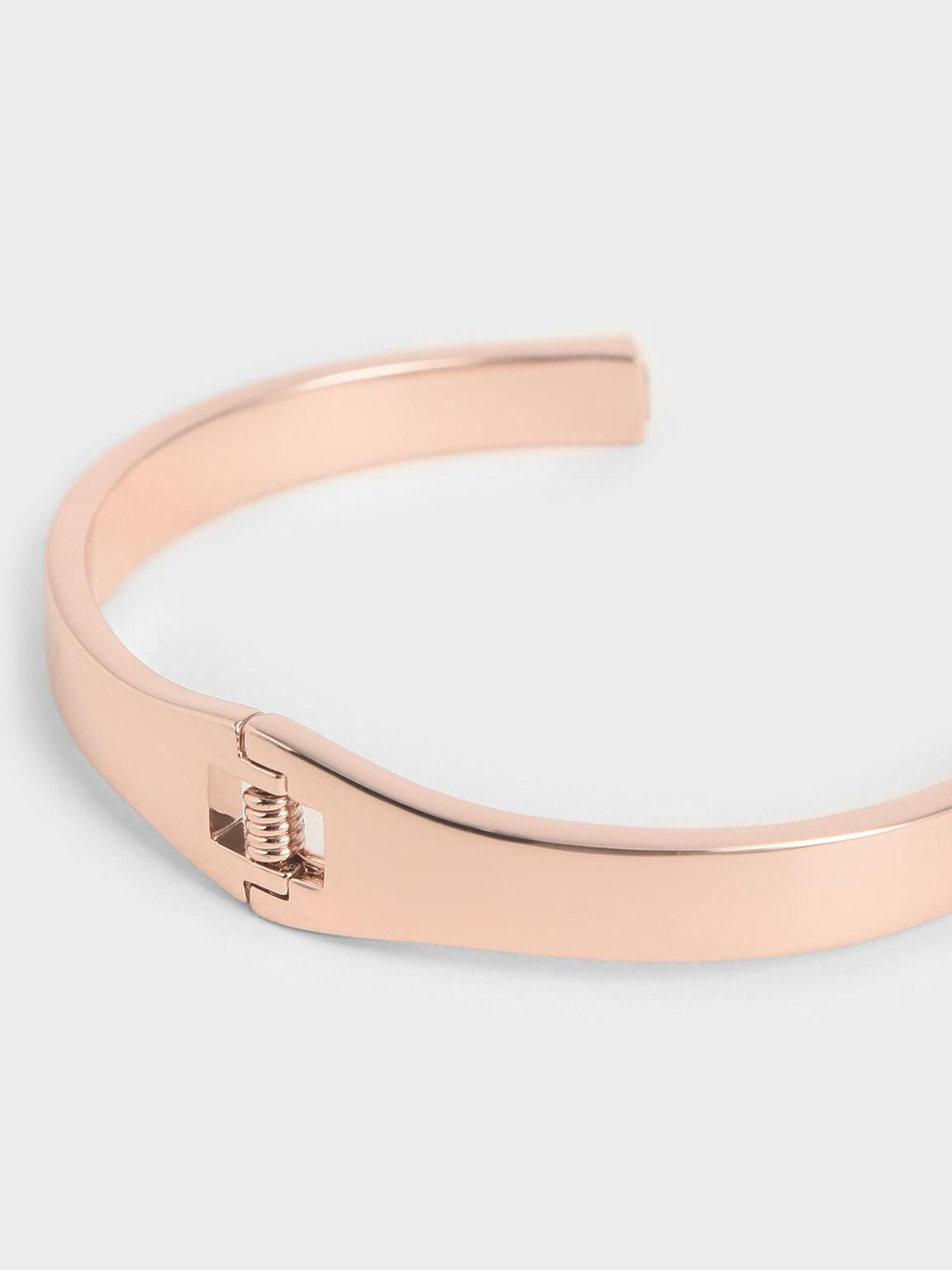 Swarovski® Crystal Cuff Bracelet, Rose Gold, hi-res